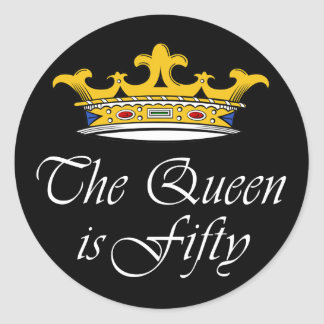50th birthday The Queen is 50 Stickers