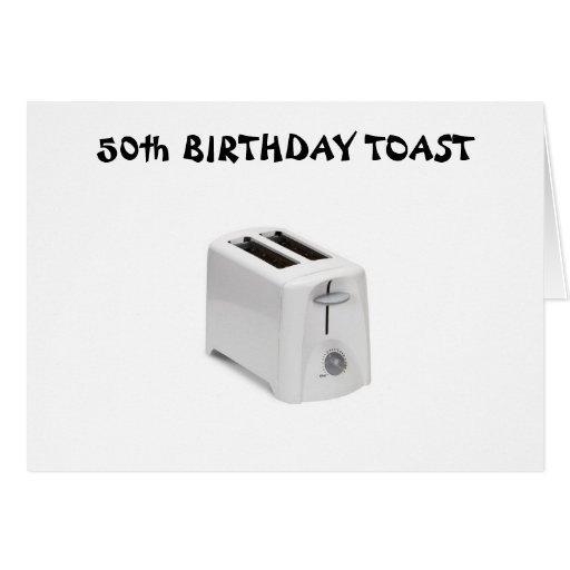 50th BIRTHDAY TOAST Card