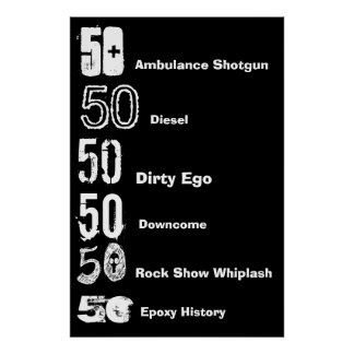 50th Birthday Typefaces Poster