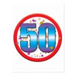50th Birthday v2 Postcard