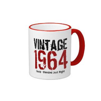 50th Birthday Vintage 1964 or Any Year V01 Ringer Coffee Mug