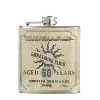 50th Birthday Vintage Humor Flask