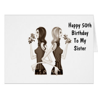 **50th** BIRTHDAY WISHES TO MY **SISTER** Card