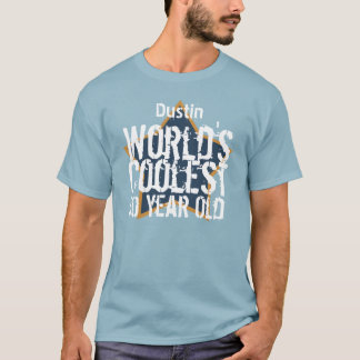 50th Birthday World's Coolest 50 Year Old B50A T-Shirt