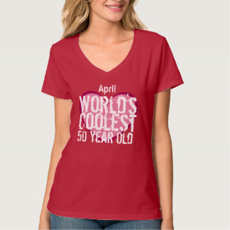 50th Birthday World's Coolest 50 Year Old F50B T-Shirt