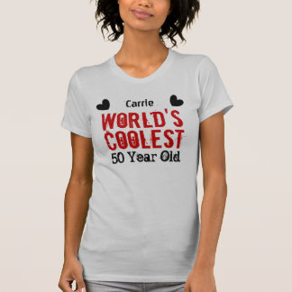 50th Birthday World's Coolest 50 Year Old W50A T-Shirt