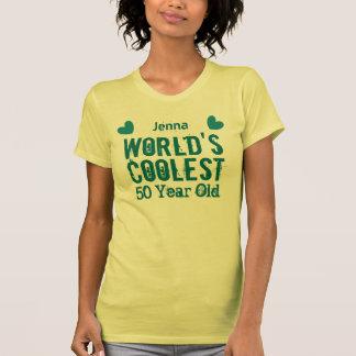 50th Birthday World's Coolest 50 Year Old W50B Tee Shirt