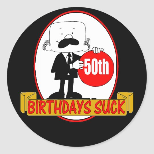 50th Birthdays Suck Sticker
