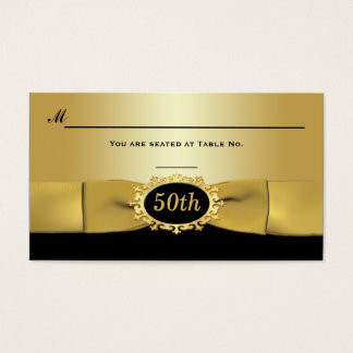 50th Black and Gold Reception Place Card