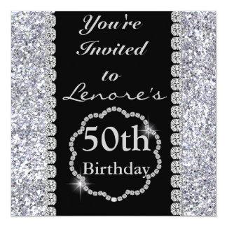 50th BLING Birthday Party Invitation