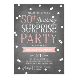 Surprise 50th birthday invitations announcements zazzle 50th confetti surprise party invitation birthday filmwisefo Choice Image