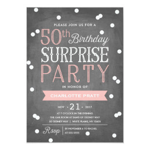 Surprise 50th Birthday Invitations Announcements Zazzle