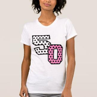 50th Fab Birthday Pink Polka Dots Z01 Tee Shirt