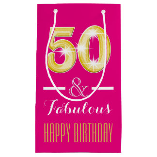 50th Fiftieth birthday men women | Small Small Gift Bag