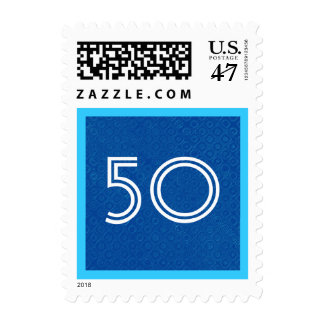 50th Fifty Birthday Party Striped Number V33 Postage