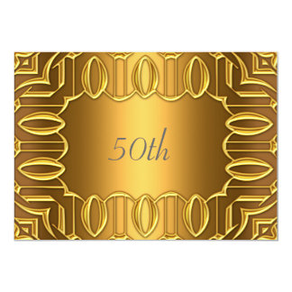 50th Gold Birthday Party Gold Card