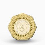"50th Gold Wedding Anniversary Award<br><div class=""desc"">A custom 50th gold wedding anniversary award keepsake.</div>"