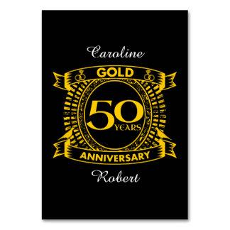 50th gold wedding anniversary card