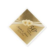 50th Gold Wedding Anniversary Napkin