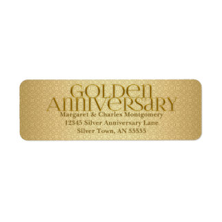 50th Golden Anniversary Avery Label