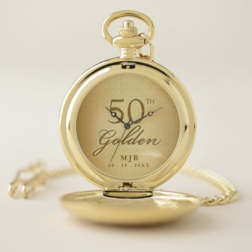 Professional Business 50th Golden Anniversary Business or Wedding Pocket Watch