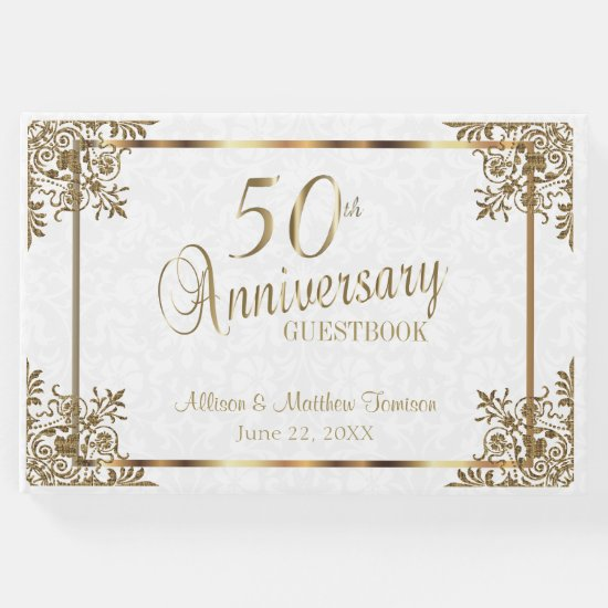 50th Golden Anniversary Design Guest Book