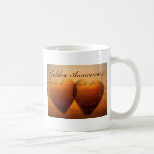 50th Golden Anniversary heart design Coffee Mug