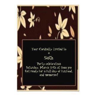 """50th Golden Anniversary Party Formal Invite 5"""" X 7"""" Invitation Card"""