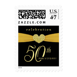 50th Golden Anniversary Party Postage