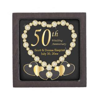 50th Golden Anniversary Personalize Jewelry Box