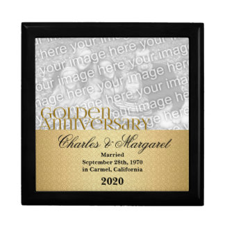 50th Golden Anniversary Photo Jewelry Box