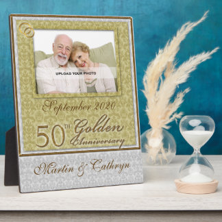 50th Golden Anniversary Photo Plaque