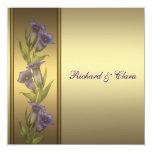50th Golden Anniversary Purple Violets Personalized Invitation
