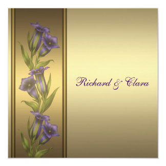 50th Golden Anniversary Purple Violets Invitation