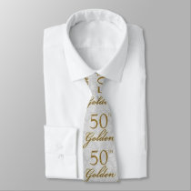 50th Golden Anniversary Silver with Gold Tie