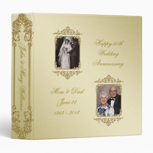 50th Golden Wedding Anniversary 15 Photo Binder Zazzlecom