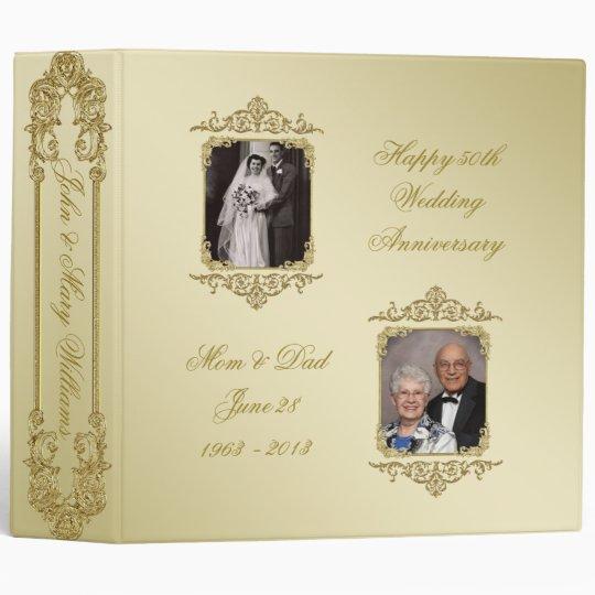 50th Golden Wedding Anniversary 2 Photo Binder Zazzlecom