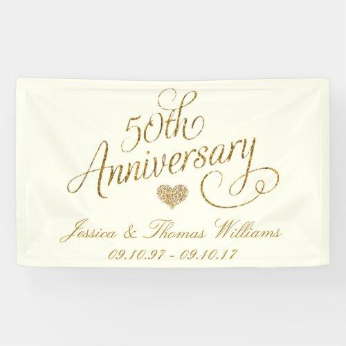 50th Golden Wedding Anniversary Banner