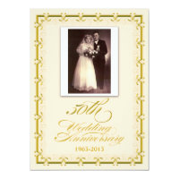 50th Golden Wedding Anniversary Celebration Photo Card