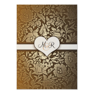 50th golden wedding anniversary damask invitations