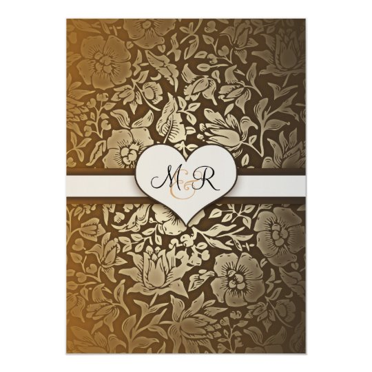 50th golden wedding anniversary damask invitations zazzle com