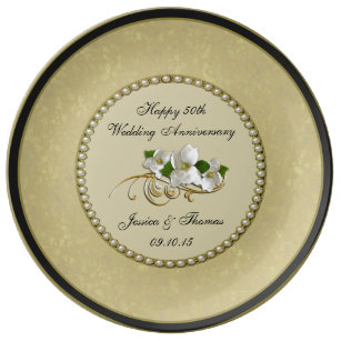 50th Golden Wedding Anniversary Decorative Plate  sc 1 st  Zazzle & Decorative Plates | Zazzle