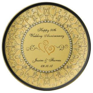 50th Golden Wedding Anniversary Decorative Plate at Zazzle
