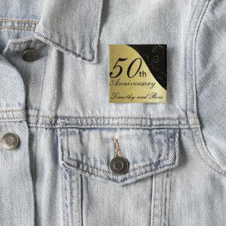 50th Golden Wedding Anniversary | DIY Name Button