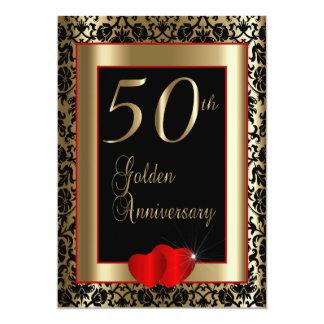 50th Golden Wedding Anniversary   DIY Text Card
