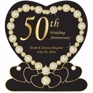 50th Golden Wedding Anniversary | DIY Text Cutout
