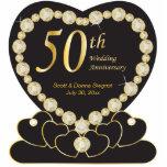 50th Golden Wedding Anniversary   DIY Text Standing Photo Sculpture