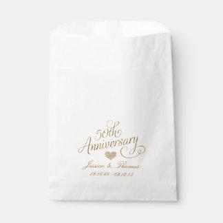 50th Golden Wedding Anniversary Favor Bag