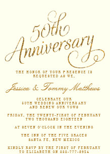 golden wedding invitations zazzle