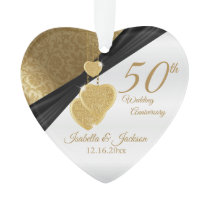 50th 💞Golden Wedding Anniversary Keepsake Design Ornament